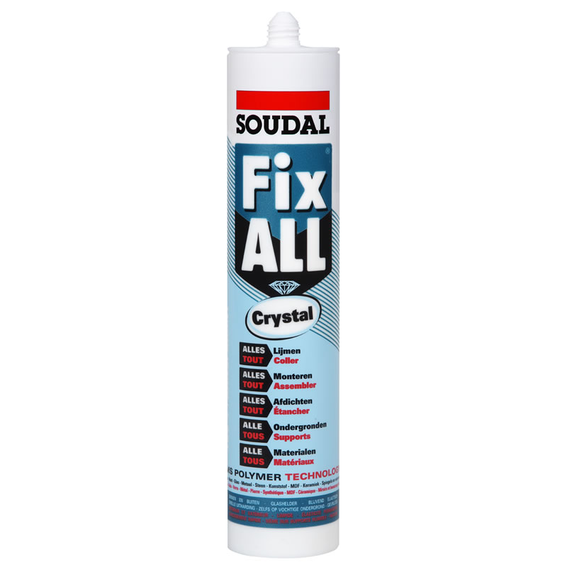 Fix All Crystal Super Clear SMX Hybrid Polymer Adhesive - Soudal